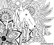 Printable fuck yeah word doodle coloring pages