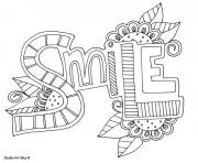 word smile coloring pages