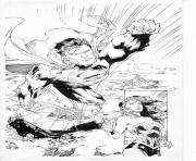 Print superman en direction de wonder woman dc comics coloring pages