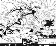 Printable superman helps wonder woman by battinks dc comics coloring pages