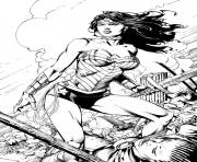Printable wonder woman by battinks dc comics coloring pages
