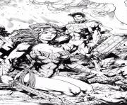 Printable wonder woman and superman by_miltonwiller dc comics coloring pages