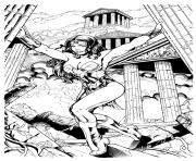 Printable kevin sharpe wonder woman inks by frisbeegod dc comics coloring pages