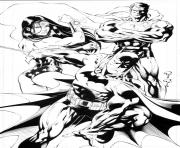 Print wonder woman batman superman super heros dc comics coloring pages