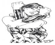Print wonder woman heroine dc comics coloring pages