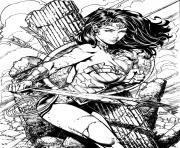 Printable wonder woman for adult book coloring pages