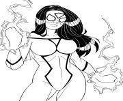 Printable spider woman by windriderx23 coloring pages