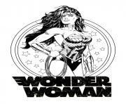 Printable wonder woman for adult dc comics coloring pages