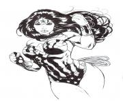 wonder woman for adult ink by saruxaxa coloring pages