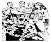 wonder woman justice league inks by shoveke coloring pages