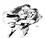 Printable superman and wonder woman by leomatos coloring pages