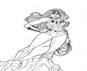 wonder woman at the top for adult coloring pages