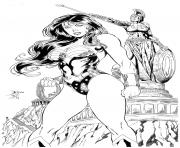 Printable wonder woman in italy adult by barquiel coloring pages