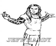 wrestler jeff hardy coloring pages