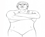 wwe andre the giant coloring page coloring pages