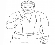 Printable wwe dean ambrose coloring page coloring pages