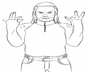 Printable wwe jeff hardy coloring page coloring pages