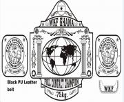 wkg ghana wwe championship belt coloring pages