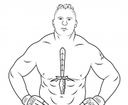 Printable wwe brock lesnar coloring page coloring pages