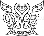 Printable WWE Diva Championship Belt nikki bella wrestling coloring pages