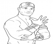 Printable john cena coloring page coloring pages