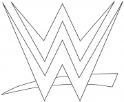 wwe logo coloring page coloring pages