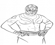 Printable rey mysterio coloring page coloring pages