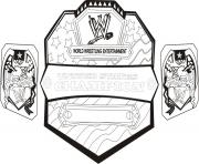 Printable wwe championship belt world wrestling coloring pages