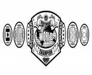 Printable wwe championship belt coloring pages