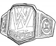 Printable wwe belt coloring pages