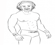 wwe kofi kingston coloring page