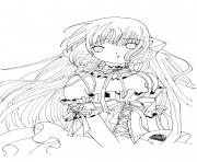 Printable Anime Angel coloring pages
