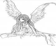 Printable Fallen Angels Anime 1 coloring pages