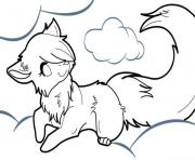 Printable anime wolf coloring pages