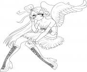 Printable Anime Angel Girl 5 coloring pages