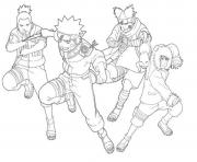 anime naruto se1d5 coloring pages