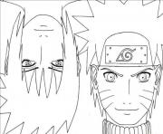 Printable anime naruto with sasuke29d3 coloring pages