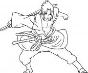 Printable anime sasuke of naruto shippudencb91 coloring pages