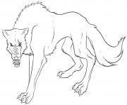anime wolf s print  coloring pages
