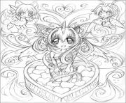 Printable Sketch Anime coloring pages