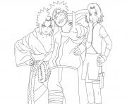 Printable anime naruto teamce93 coloring pages