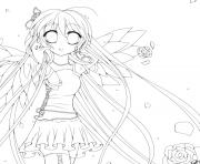 Printable Anime Angel 1 coloring pages