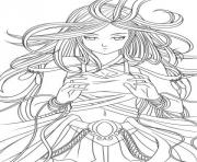 Printable Anime Angel 3 coloring pages
