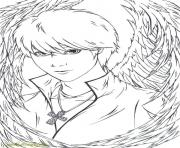 Printable Fallen Angels Anime coloring pages