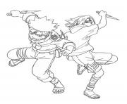 Printable anime naruto and sasuke1345 coloring pages