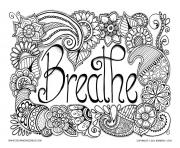 Printable breathe adult anti stress jennifer 3 coloring pages