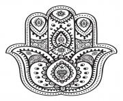 Printable mandala hand fatma coloring pages