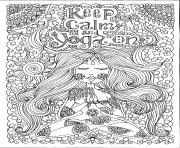 Printable adult keep calm and do yoga by deborah muller coloring pages