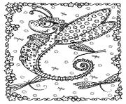 Printable adult dragon butterfly by deborah muller coloring pages