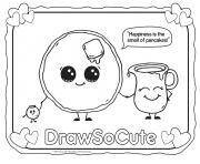 Printable pancake draw so cute coloring pages